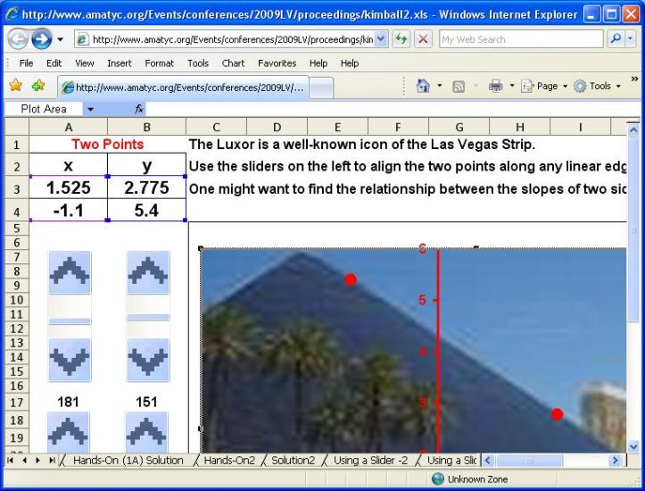 Using a Spreadsheet to Find the Luxor's Steepness