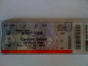 One of twenty seven tickets I had to the Galarraga game