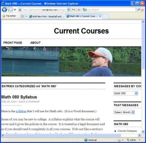 The New Blog for Course Announcements
