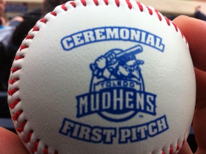 The Mud Hens Have Special Balls for First Pitches