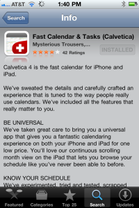 Calvetica 4 at the App Store