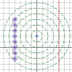 Starting screen for parabola activity