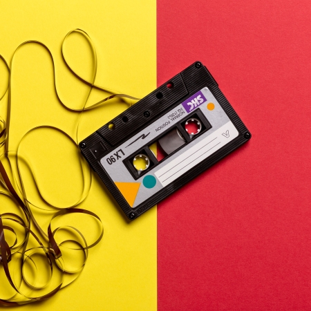 A cassette tape.